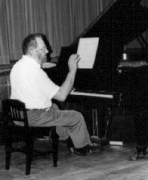 William Harris at the piano
